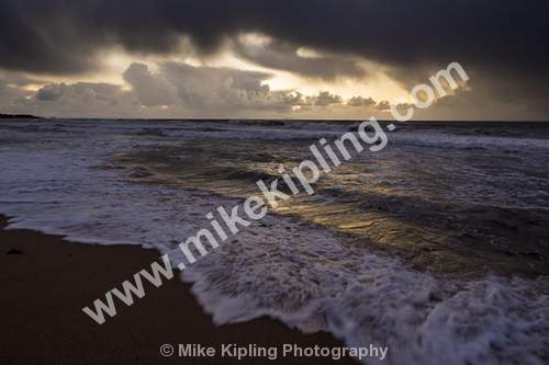 Stormy Beach at Sunset, Mandurah, Perth Western Australia - Australia, Perth, Mandurah, Stormy, Beach, Seaside, Coast, Sunset,