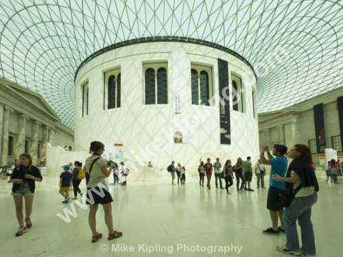 The Concourse inside the British Museum, London - London, British, Museum, Concourse, People,