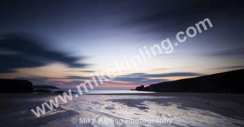Sunset Sandy Beach, Trevone, near Padstow north Cornwall - Cornwall, Padstow, Trevone, Beach, Sand, Sunset, Movement, Big Stopper,