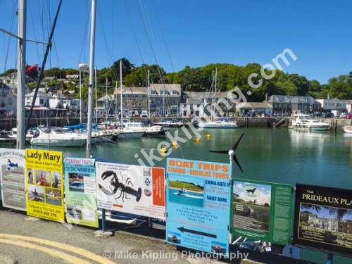 Padstow Harbour, North Cornwall - Cornwall, Padstow, Harbour, Holiday, Resort, Fishing, Town, Boats, Yachts, Advertising, Signs,
