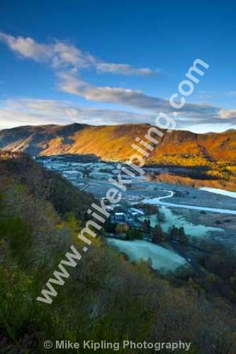 Frosty November Morning from Surprise View, Derwentwater, The English Lakes, Cumbria - Cumbria, Keswick, Lake, District, National Park, Derwentwater, frost, Borrowdale, Cat Bells, Surprise View,