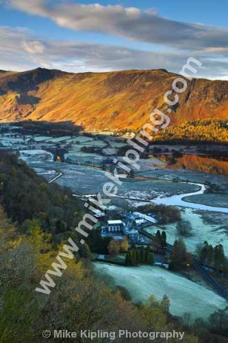 Frosty November Morning from Surprise View, Derwentwater, The English Lakes, Cumbria - Cumbria, Keswick, Lake, District, National Park, Derwentwater, frost, Borrowdale, Lodore, Hotel, Surprise View,