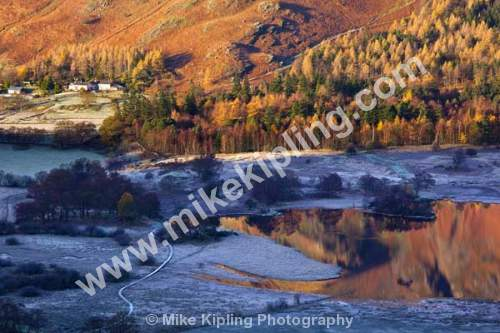 Frosty November Morning from Surprise View, Derwentwater, The English Lakes, Cumbria - Cumbria, Keswick, Lake, District, National Park, Derwentwater, frost, Borrowdale, Autumn,
