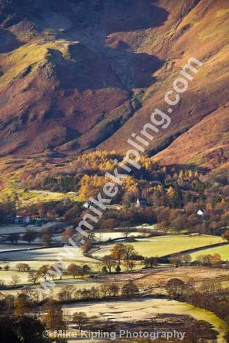 Frosty November Morning from Surprise View, Derwentwater, The English Lakes, Cumbria - Cumbria, Keswick, Lake, District, National Park, Borrowdale, frost, fells,