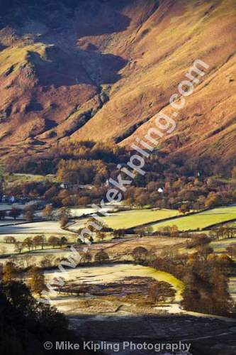 Borrowdale from Surprise View, The English Lakes, Cumbria - Cumbria, Keswick, Lake, District, National Park, frost, Borrowdale, fells,
