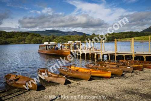 Derwentwater, Keswick, Lake District, National Park, Cumbria - Cumbria, Keswick, Lake District, Derwentwater, rowing, boats, pier, steamer,