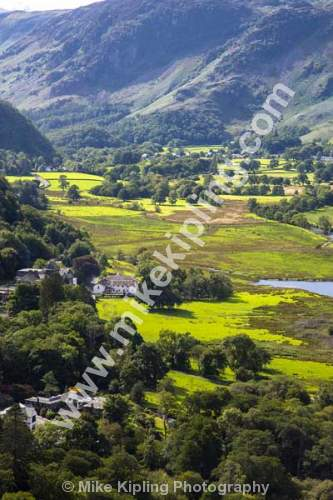 Borrowdale from Surprise View, Lake District National Park - Cumbria, Lake District, view, vista Borrowdale,