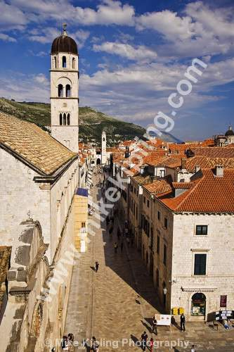 The Stradum from the Pile Gate, Dubrovnik Croatia - dubrovnik, croatia, city, history, UNESCO, world, heritage, site, adriatic, travel, tourist, destination, street, placa, stradum, people, walking,