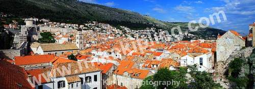 The Rooftops from the City Walls, Dubrovnik Croatia - dubrovnik, croatia, city, history, UNESCO, world, heritage, site, adriatic, travel, tourist, destination, Romanesque, Baroque, cathedral, christianity, red, rooftops, tiles,