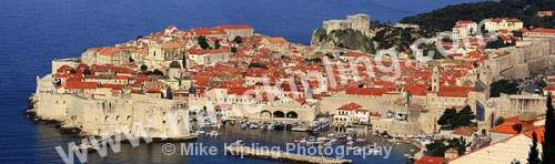 The Cathedral, Walls and Harbour Dubrovnik Croatia - dubrovnik, croatia, city, history, UNESCO, world, heritage, site, adriatic, travel, tourist, destination, cathedral, harbour, boats, panorama, walls,