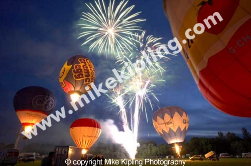 Fireworks and Hot Air Baloons <br />at Preston Park - events recreation fireworks balloon preston park night