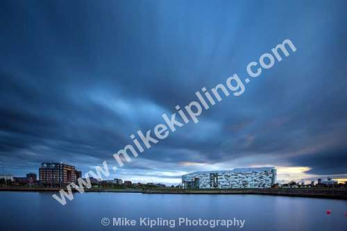 Middlesbrough Dock and College - Middlesbrough, Teesside, college, dock, movement, cloudy, sky,