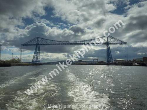 Middlesbrough Transporter Bridge from the River Tees - Middlesbrough, Transporter, Bridge, River Tees,