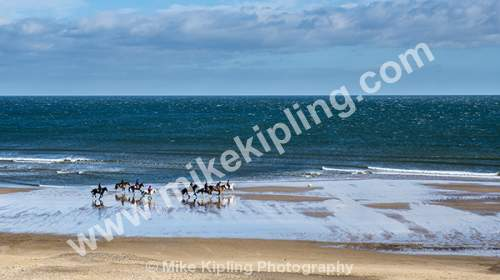 Horse Riders on the Beach, Marske by the Sea - Cleveland, Marske, Beach, Horse Riders,