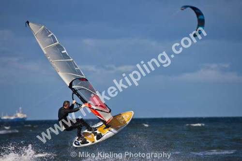 Sail Boarding at Coatham, Redcar, Tees Valley - Cleveland, Tees Valley, Redcar, Coatham, Sail Boarding, sailboarding, water, sport, sea, coast, extreme, sport, waves, wind, action,