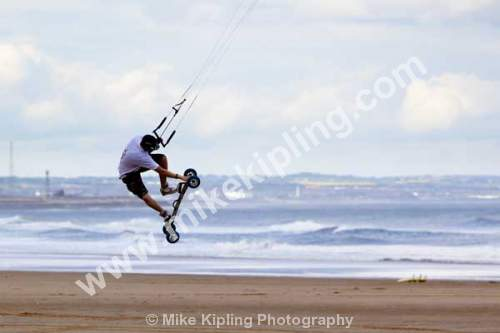 Kiteboarding champoinships held at Coatham Beach, Redcar, Cleveland - Cleveland, Redcar, beach, kite boarding, sport,