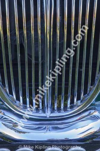 Vintage Car detail at Tees Cottage Pumping Station Open Day, Darlington -