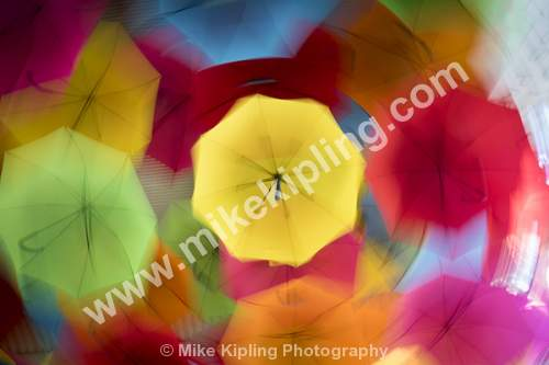 Coloured umbrellas, Kings Park, The City of Perth, Western Australia. Circular Movement During Exposure - Australia, Perth, City, Kings, Park, Umbrellas, Movement, Creative, Twist, Circular,