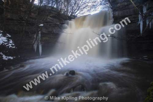 Waterfall Gibsons Cave, Bowlees, Teesdale, County Durham - Teesdale, Bowlees, waterfall, Gibsons, cave,