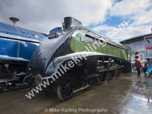 Class A4 sister engines gather for Great Goodbye at Shildon, County Durham, LNER Class A4 4496 Dwight D Eisenhower - County Durham, Shildon, National Railway, Museum, Great, Gathering, Class A4, steam, engines, LNER Class A4, 4496 Dwight D Eisenhower,