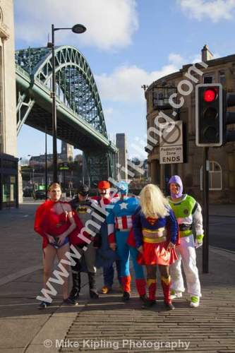 Stag night out Newcastle upon Tyne - Newcastle upon Tyne, stag, night, superheroes, tyne, bridge,