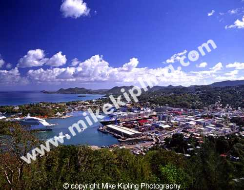 Castries Harbour<br />St Lucia<br />Caribbean - harbour island ships boats holiday vacation