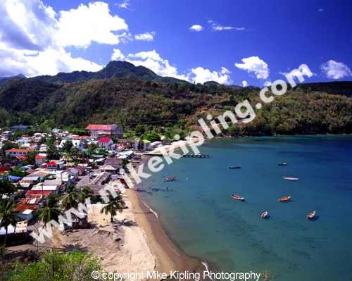 Anse la Raye<br />St Lucia<br />Caribbean - island coast fishing village holiday