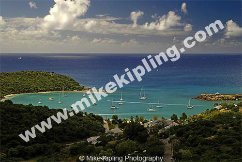 English Harbour<br />Antigua<br />Caribbean, West Indies - caribbean, antigua, island, bay, coast