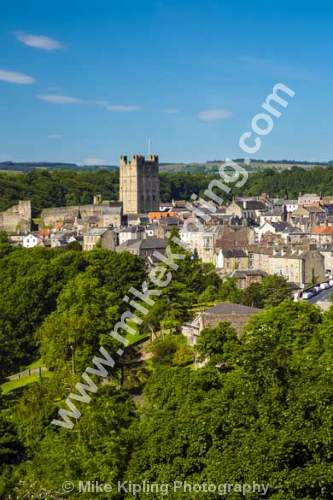 Richmond Yorkshire from Maison Dieu - North Yorkshire, Richmond, Georgian, town, Norman, Castle,