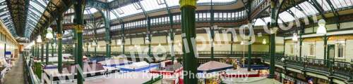 Leeds Victorian Covered Market, Yorkshire - Yorkshire, Leeds, city, covered, market, stalls, Victorian, panorama,