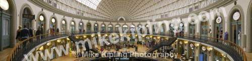 Leeds Victorian Covered Market, Yorkshire - Yorkshire, Leeds, city, covered, market, stals, Victorian, panorama,