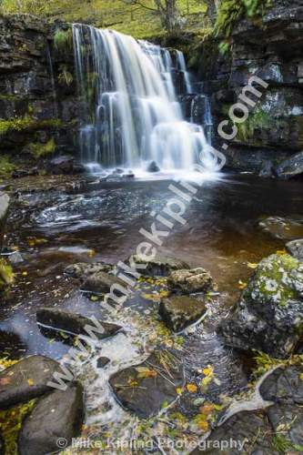 East Gill Force near Keld, Upper Swaledale, Yorkshire Dales National Park - Yorkshire, Swaledale, East Gill Force, Waterfall, Stream, Autumn,