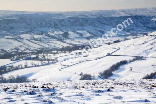 Farndale from Blakey Ridge in Snowy Conditions, North York Moors National Park - Yorkshire, Blakey, Farndale, winter, Snow, White,