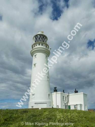 The Lighthouse, Selwicks Bay, Flamborough Head, East Yorkshire - Yorkshire, Flamborough, Head, Selwicks, Bay, Lighthouse, White,