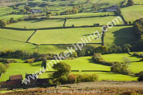 Danby Dale in October, North York Moors National Park - Yorkshire, Danby Dale, Autumn, Countryside, Moors, Farms, Fields, Hedgerows,