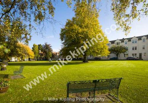 High Green Great Ayton at Autumn, North Yorkshire - Yorkshire, Great Ayton, Village, Green, Autumn, Seat, Trea,